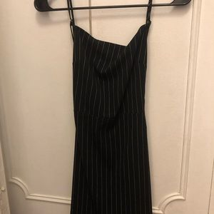 Tight backless high neck dress